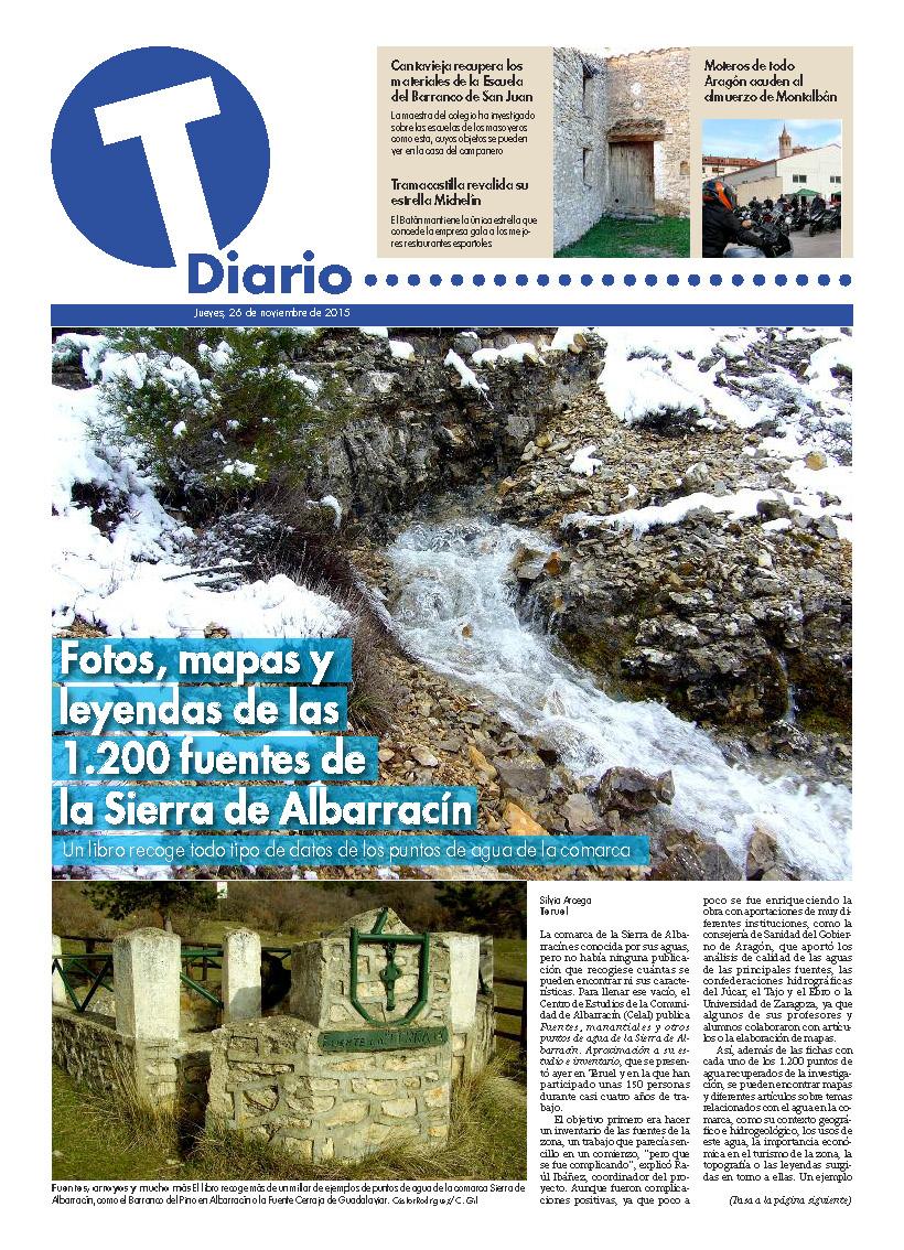 Imagen de FOTOS MAPAS Y LEYENDAS DE LAS 1.200 FUENTES DE LA SIERRA DE ALBARRACÍN. Pág.1